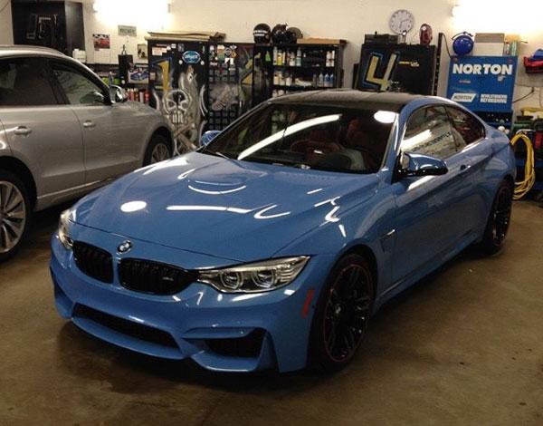 Powder Blue Car