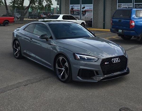 Grey Audi Coupe